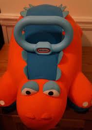 Little Tikes Garden Chair Orange by Little Tikes Pillow Racer Orange And Blue Dinosaur Ride On Infant