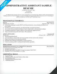Pleasing Sample Resume Receptionist Or Administrative Assistant About For Position