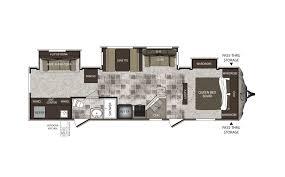 Keystone Cougar High Country 329TSB Travel Trailer Floor Plan