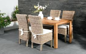 Banana Rattan Dining Chairs With Arms Full Size