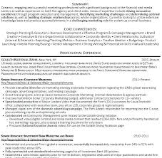 Investment Banker Resume Example Banking Download Sample Objective