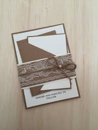 Rustic Wedding Invitation Lace Belly Band Twine With