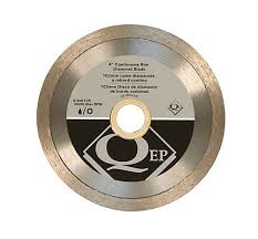 Wet Tile Saw Home Depot Canada by Qep 4 In Diameter Continuous Rim Diamond Tile Saw Blade 7 8 5 8
