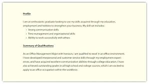Example Resume Profile Sample Fresh Best Solutions Personal Samples Objective Career Change