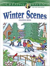 Amazon Creative Haven Winter Scenes Coloring Book Adult 8601411318429 Marty Noble Books