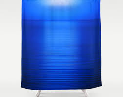 Royal Blue Bathroom Decor by Blue Shower Curtain Etsy