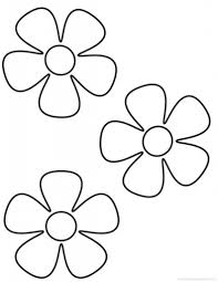 Printable Coloring Pages Flowers Kids Flower Inside For Intended To