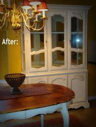 Shabby Chic Dining Room Hutch by Gorgeous Haywood Wakefield Sunshine Yellow Vintage Shabby Chic
