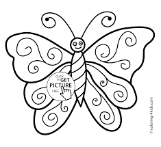 Butterfly Coloring Pages Nice For Kids Printable Free