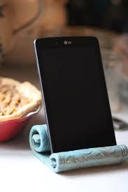Ceramic IPad Holder Stand Kitchen Tablet Phone By Elsakstudios