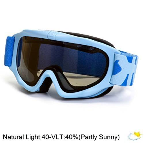 Scott Junior US Tracer Ski Goggles, Powder Blue, Natural Lens
