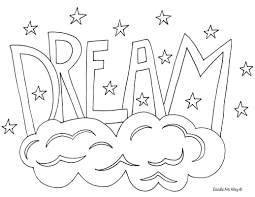 Words Coloring Pages Color The At Page In Of And Word