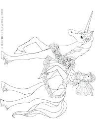 Unicorn Coloring Pages Printable To Print Out The Last