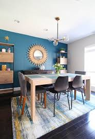 A Cozy Modern Dining Room In The Heart Of Philadelphia Teal Accent Wall Paired