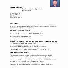Resume Format Best Pdf Resume Sample For Job Application Pdf Valid