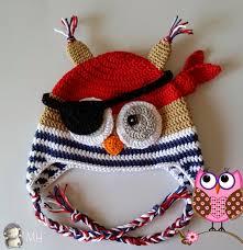 Gorro Bºho Pirata A Crochet Patr³n Gratis