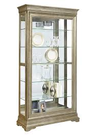 Pulaski Glass Panel Display Cabinet by Lyon Curio Cabinet In Distressed Wood Finish By Pulaski Home
