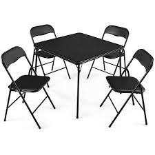Card Table And Chair Set Folding 5 Pieces Black Padded Seats Metal Frame  Game 7 Best Folding Card Tables 2017 Chair Long Table And Padded Chairs Cosco 5 Piece Set 5pc Xl Series And Ultra Thick Black White Plastic Large Black Card Table Sim Smatch Wikipedia 1950s Four Kids Colorful Vintage Metal Of 2 Brown Creme Vinyl Retro Mid Century Extra Seating Kitchen Ding Fniture Charming Pretty Wood