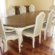 Century Chandelle Dining Room Table Eight Chairs Leaves