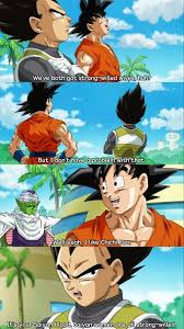 Goku And Vegeta Discuss Their Wives