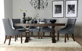 Grey Dining Table Set 8 Chairs Fast Free Delivery Furniture Choice Great