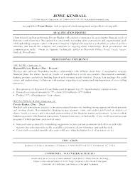 Personal Banker Sample Resume Combined With