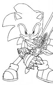 Sonic Coloring Pages Free Printable The Hedgehog For Kids