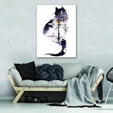 canvas leinwand bilder kunst katze bild wandbilder