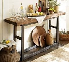 This Console Table Adds A Little Bit Of An Industrial And Rustic Style Into The Living