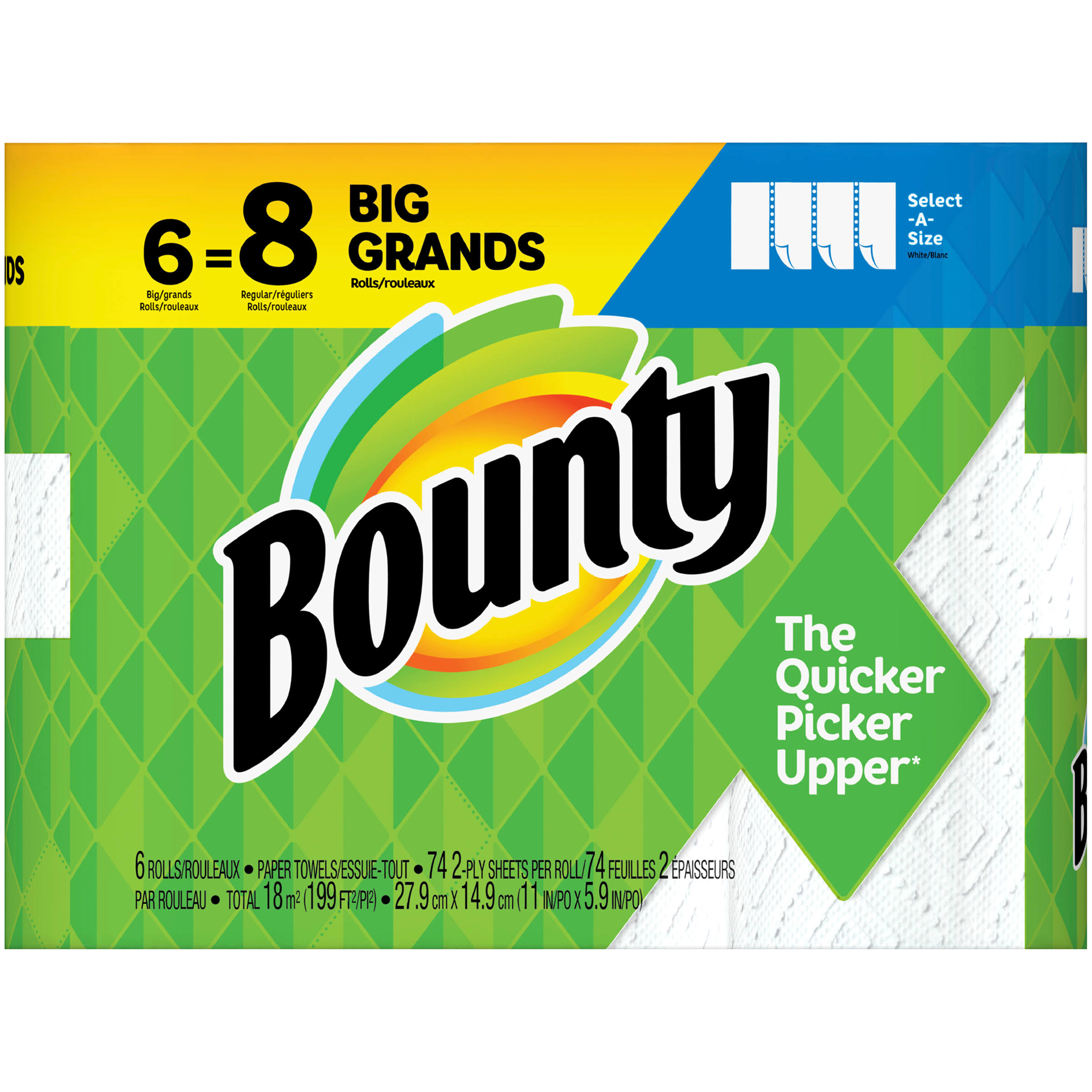 Bounty Select A Size Paper Towels - White, 6ct