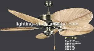 Ceiling Fan With Palm Leaf Blades by 50 Inch 5 Palm Leaf Blades Ceiling Fan With Caribbean Brass Buy