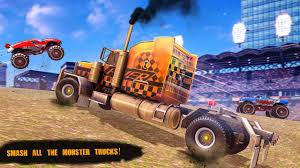 100 Racing Trucks American Truck Destruction Stunts For Android APK