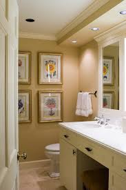 Wall Soffit Bathroom Traditional With Recessed Lighting Towel Bar