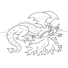 Printable Fire Breathing Dragon Coloring Pages Free Safety Athing Page
