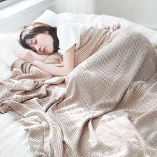 japan waffel baumwolle decke für bett sommer kühlen handtuch