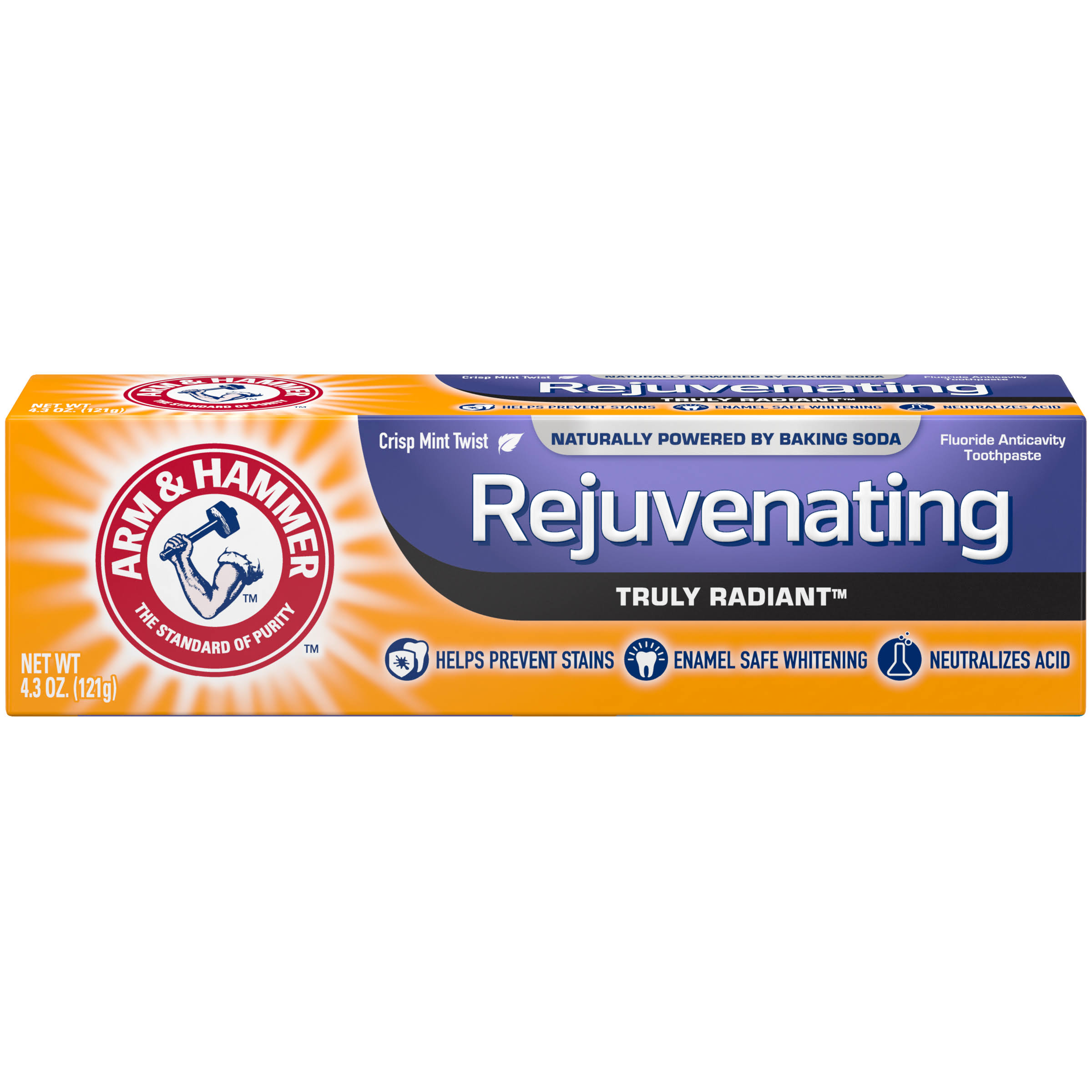 Arm & Hammer Truly Radiant Toothpaste - Fresh Mint, 121g