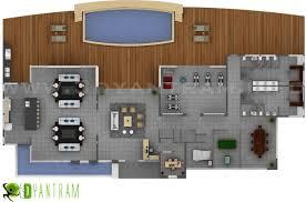 100 Modern Industrial House Plans Morern 2D Floor Plan Commercial CGI View