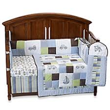 Kidsline Crib Bedding by Kids Line Mosaic Transport 6 Piece Crib Bedding And Accessories