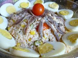 cuisine salade de riz salade de riz thon et anchois du jardin et du marché à l