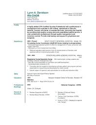Nurse Resumes Examples Nursing Resume Sample Without Experience
