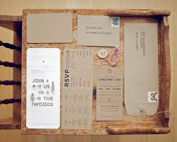 DIY Woodland Cutout Wedding Invitation Suite