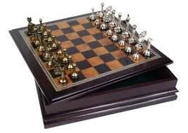 Image Is Loading Portable Metal Chess Table Set Classic Wooden Board