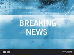 Graphical Breaking News Background With Text Blue Theme White