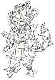 Dragon Ball Z Para Colorear Goku Wwwacelesitecom