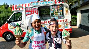 100 Ice Cream Truck Party TIANAS ICE CREAM TRUCK SWIMMING POOL PARTY YouTube