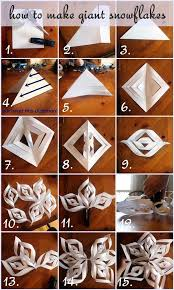 Giant Paper Snowflakes Easy And Clear Step By Tutorial With Photos