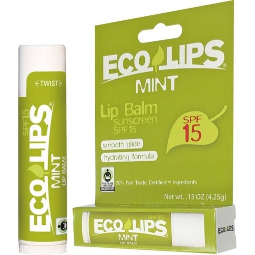 Eco Lips Mint Lip Balm - SPF 15, 0.15oz