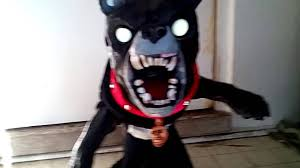 Spirit Halloween Animatronic Mask by My Spirit Halloween Jumping Dog Youtube