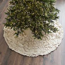 Cream Ruffle Christmas Tree Skirt