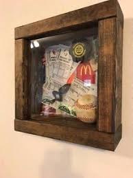 Image Is Loading 9x9 Rustic Wood Collectible Shadow Box Display Case